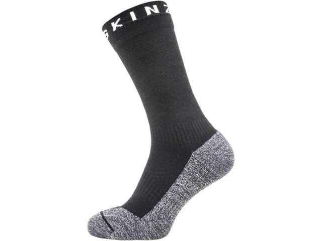 Sealskinz Soft Touch Mid Length Socks Black/Grey/White